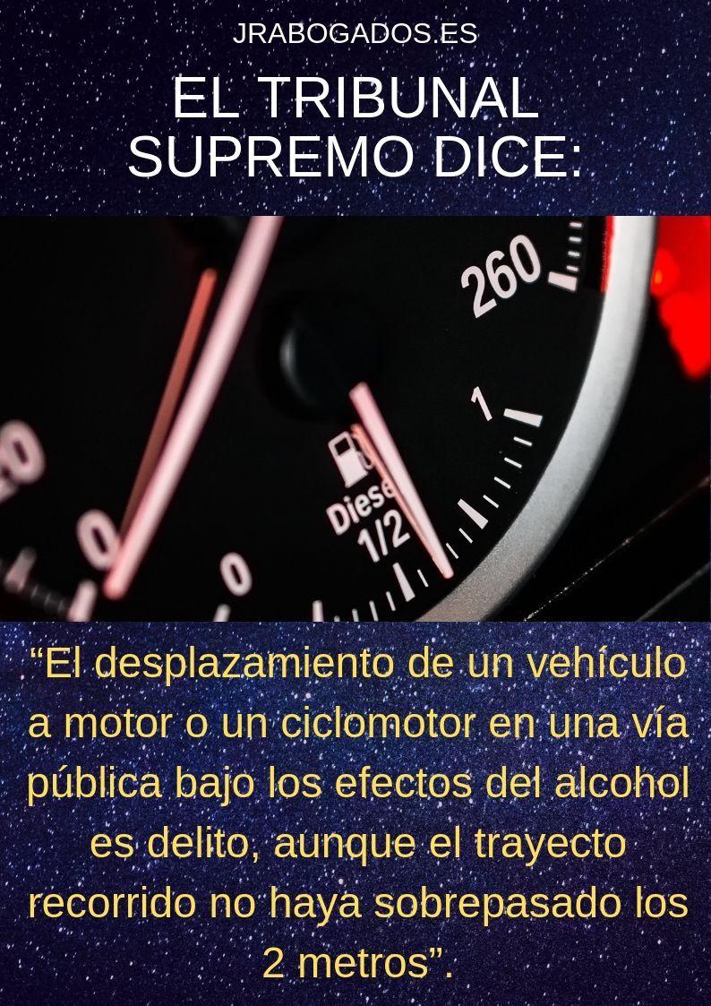 conducir dos metros es delito de alcoholemia